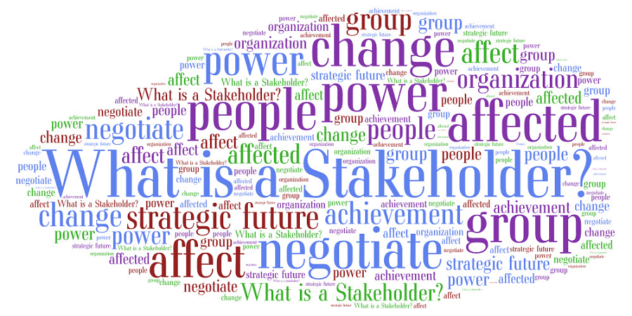 What is a stakeholder? word cloud