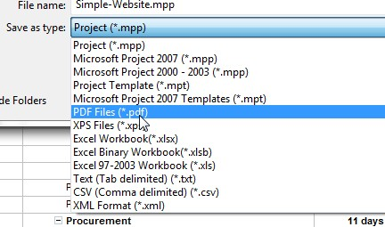 Ms Project 2010 To Pdf Save Ms Project P As Pdf