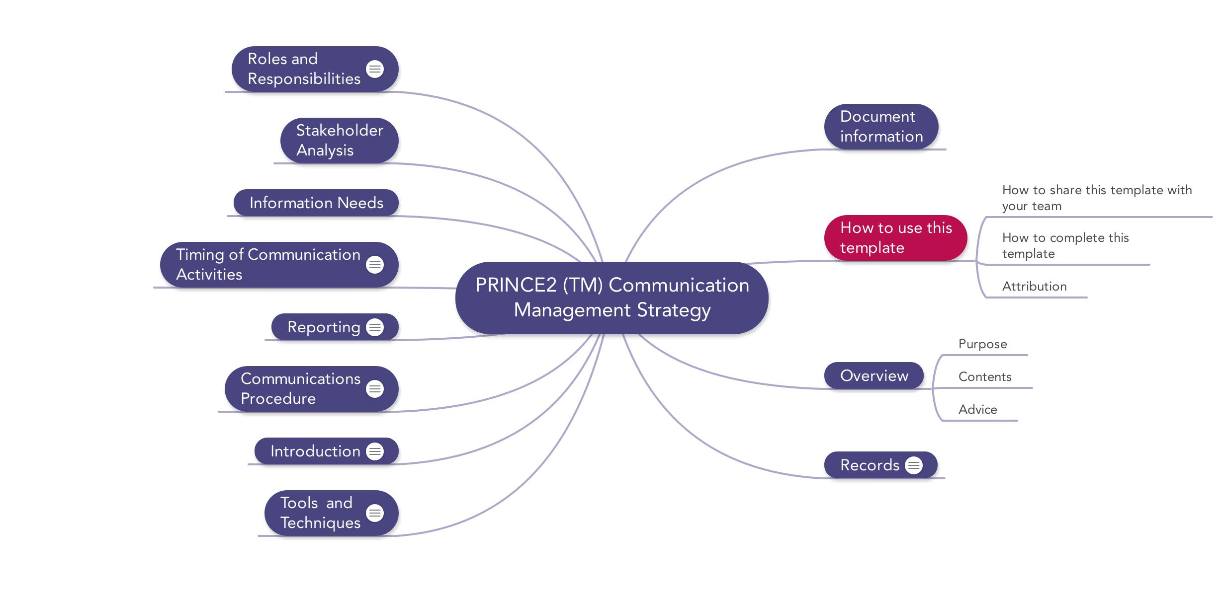 Prince Communication Management Strategy Download Template - Strategy template