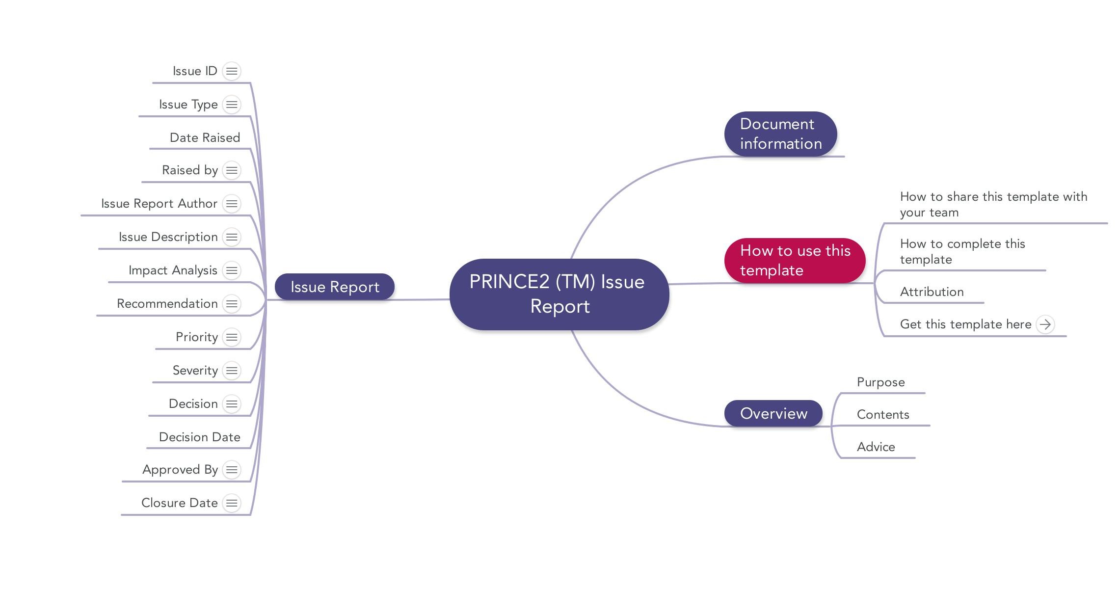 prince2 issue report download template