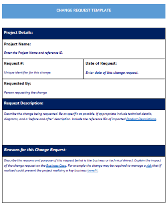 Change Request Template Word