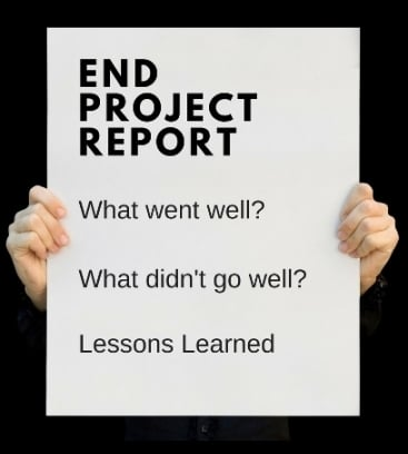 End project report template word template free download for End of project report template