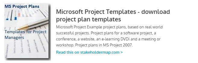 Microsoft Project Templates