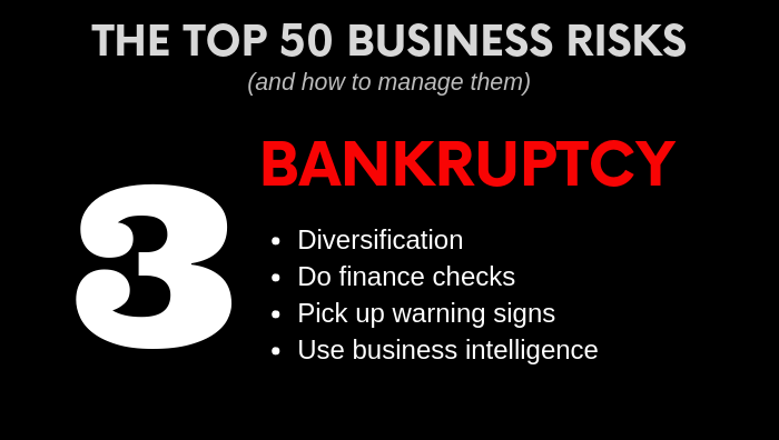 Top Business Risk - Bankruptcy - how to manage it