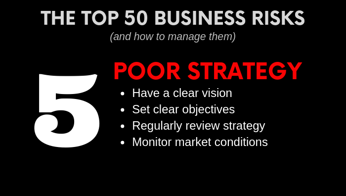 Top Business Risk - Poor Strategy - how to manage it